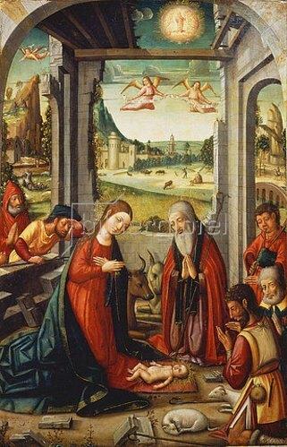 Meister von Játiva: Die Geburt Christi.