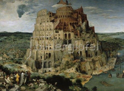 Pieter Brueghel d.Ä.: Der Turmbau von Babel. 1563