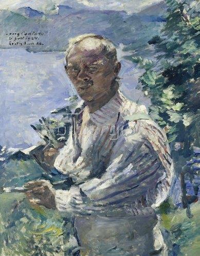 Lovis Corinth: Selbstbildnis in Urfeld am Walchensee. 1924
