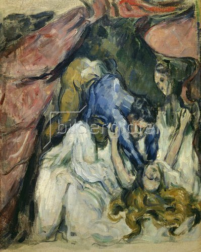 Paul Cézanne: Die erdrosselte Frau. 1870/1872.