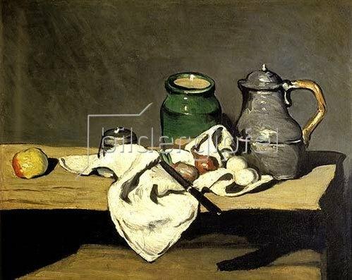 Paul Cézanne: Stilleben mit Wasserkessel. Gegen 1869.