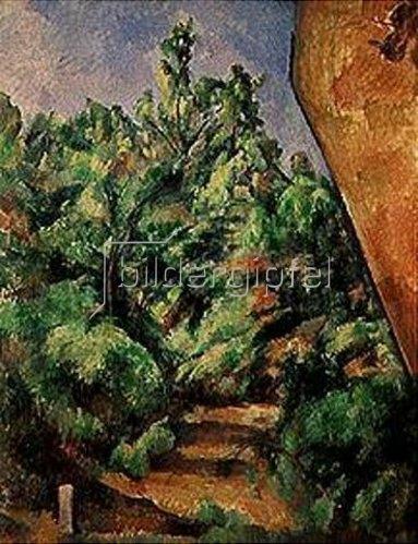 Paul Cézanne: Der rote Felsen. Gegen 1900.
