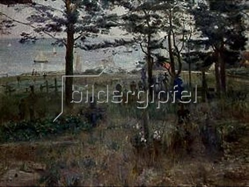 Lovis Corinth: Fischerfriedhof auf Nidden. 1893