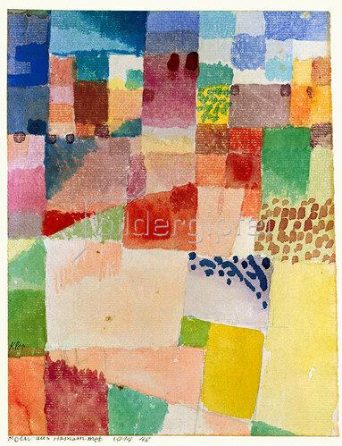 Paul Klee: Motiv aus Hammamet. 1914 48.