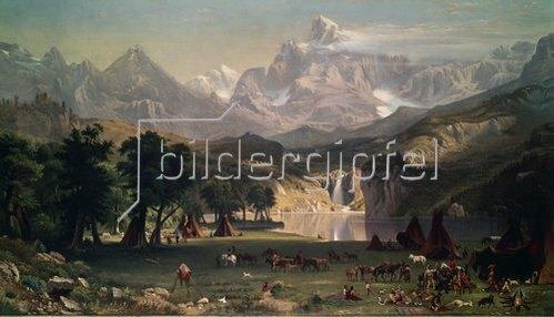 Albert Bierstadt: Indianerlager in den Rocky Mountains.