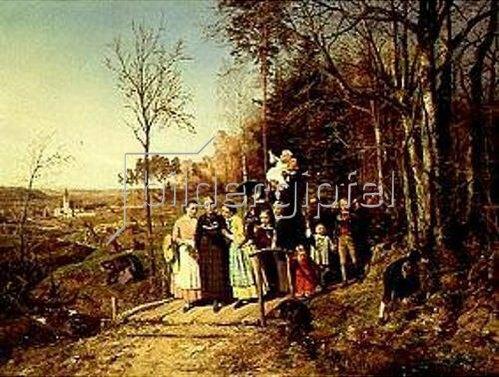 Theodor Schüz: Ostermorgenspaziergang. 1859.