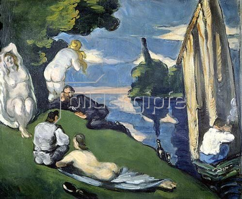 Paul Cézanne: Pastorale (oder: Idylle). 1870.