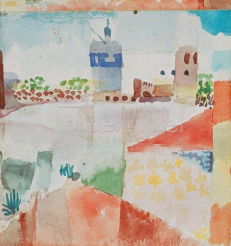Paul Klee: Hammamet mit der Moschee. 1914