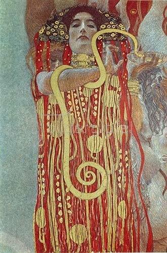 Gustav Klimt: Hygieia. Detail aus der Medizin. 1900/1907