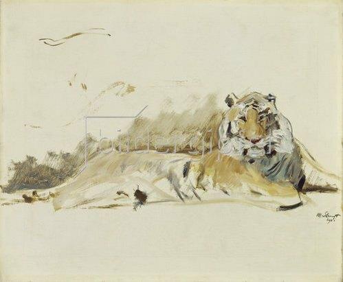 Max Slevogt: Ruhender Tiger. 1901