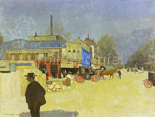 Felix Vallotton: Place Clichy. 1901.