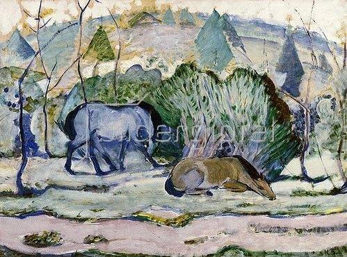 Franz Marc: Pferde auf der Weide. 1910