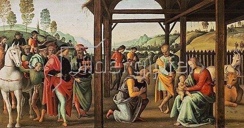 Perugino (Pietro Vanucci): Die Anbetung der Könige.