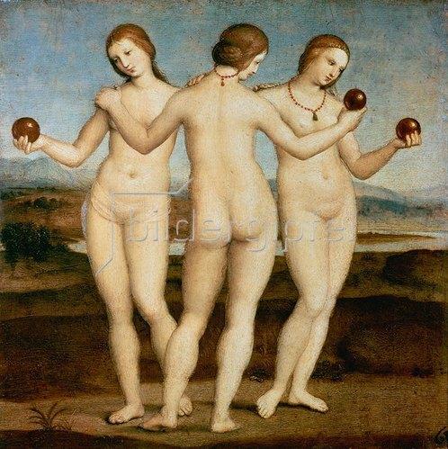 Raffael (Raffaello Sanzio): Die drei Grazien. Gegen 1502/03.