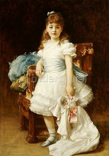 Frederic Leighton: Lady Sybil Primrose als Kind, Bildnis