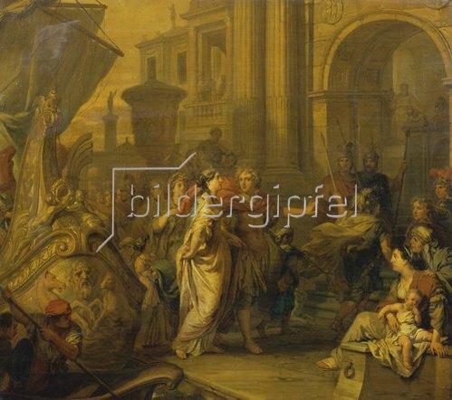 Gerard de Lairesse: Die Landung der Cleopatra in Tarsus.