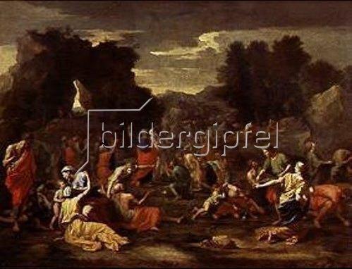 Nicolas Poussin: Die Isareliten sammeln das Manna.