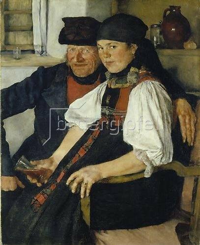 Wilhelm Leibl: Das ungleiche Paar. 1876/77