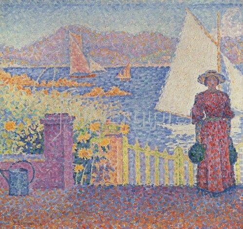 Paul Signac: In St. Tropez.