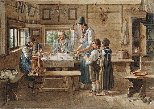 Lorenzo Quaglio d.J.: Das Tischgebet.