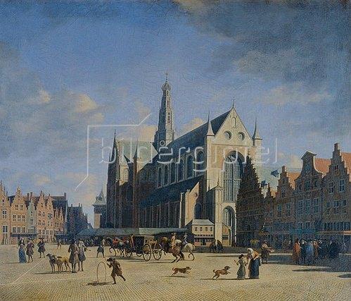 Gerrit Adriaensz Berckheyde: Der Große Markt in Haarlem