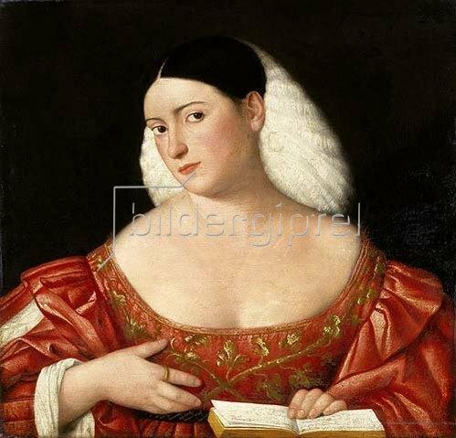Bernardino Licinio: Weibliches Bildnis.