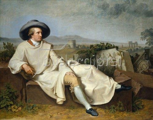 Johann Heinrich Wilhelm Tischbein: Goethe in der römischen Campagna. 1787