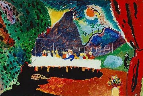 Wassily Kandinsky: Abendmahl. 1909/10