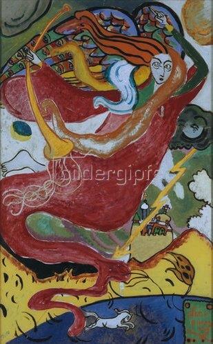 Wassily Kandinsky: Der hl.Gabriel. 1911.