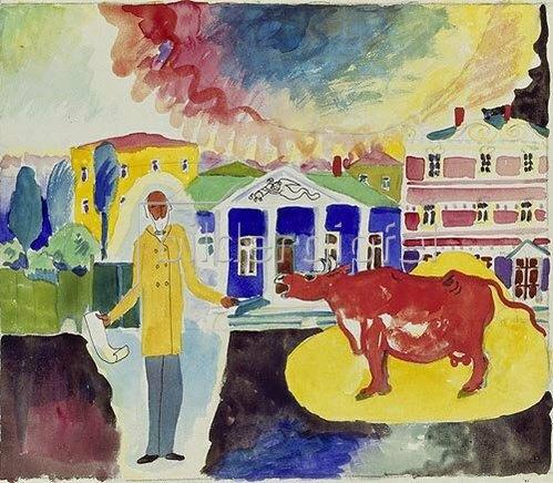 Wassily Kandinsky: Kuh in Moskau. 1912.