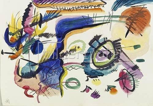 Wassily Kandinsky: Entwurf zu Komposition VII, 1913.