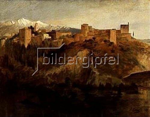 Franz von Lenbach: Die Alhambra in Granada. 1868