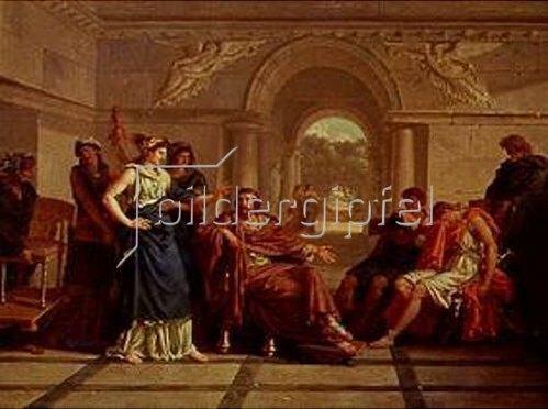 Jean Jacques Lagrenée d.J.: Helena erkennt Telemachus, den Sohn Odysseus. 1795
