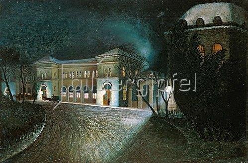Tivadar Csontváry-Kosztka: Um Mitternacht am Budapester Ostbahnhof.
