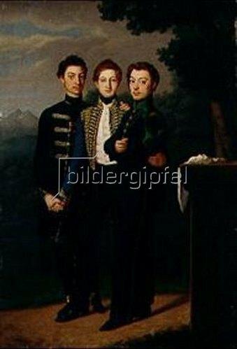 József Czauczik: Die drei Brüder. 1828.