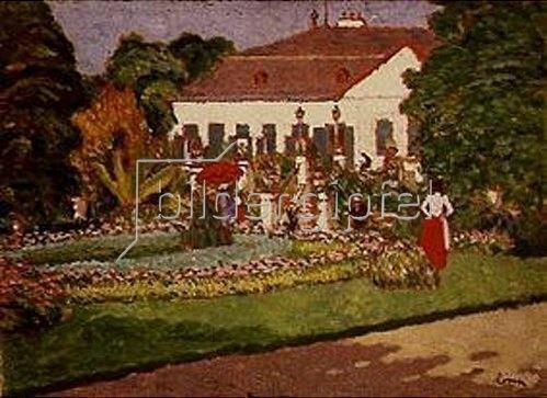 Das Sommerhaus in Körtvélyes. 1908.