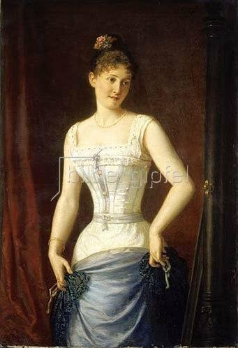 Mór Than: Junge Frau im Korsett.