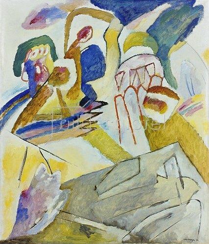 Wassily Kandinsky: Improvisation 18 (mit Grabstein). 1911