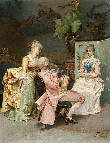 Giulio Rosati: Die Sitzung. 1887