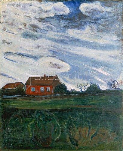Edvard Munch: Das rote Haus. 1902-05