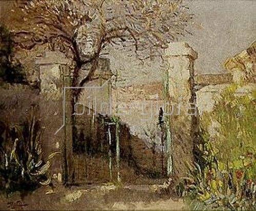 Pierre-Eugene Montézin: Das Gartentor.