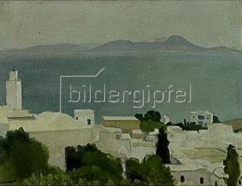Albert Marquet: Das Minarett von Sidi-Bou-Said.