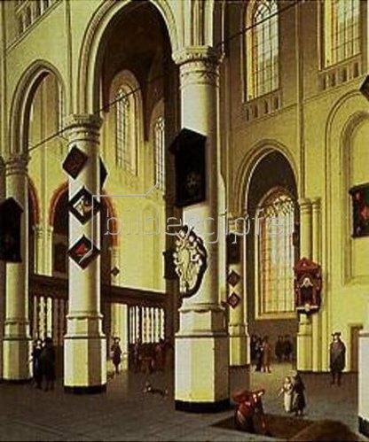 Hendrik Cornelisz van Vliet: Inneres des Oude Kerk in Delft während der Öffnung eines Grabes.