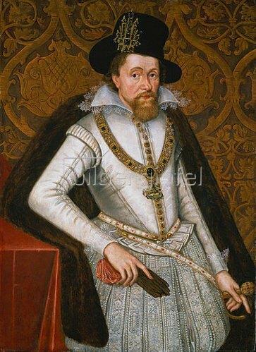 John de Critz d.Ä.: Bildnis James VI. von Schottland, König James I. von England.