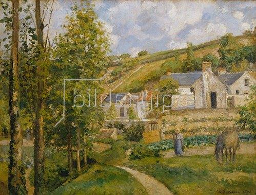 Camille Pissarro: Un coin de l`Hermitage, Pontoise. 1874