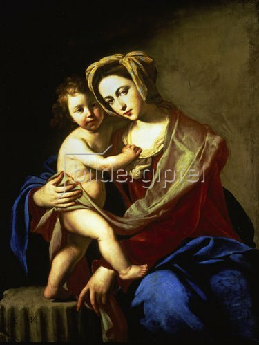 Massimo Stanzione: Madonna und Kind.