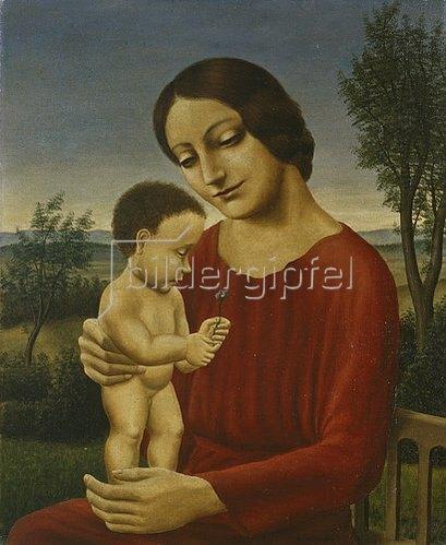 Georg Schrimpf: Landschaft mit Mutter und Kind.