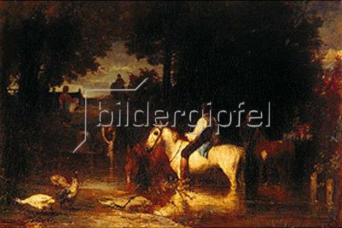 Hans von Marées: Die Pferdeschwemme. 1864