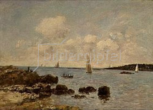 Eugène Boudin: Antibes, Küstenlandschaft. 1893.