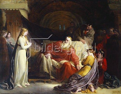 William II Hilton: König Lear und seine drei Töchter.